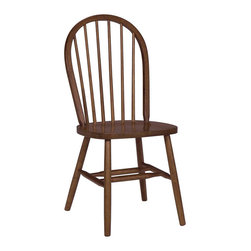 "International Concepts - International Concepts Windsor 37"" Spindleback Dining Side Chair in Cottage Oak - International Concepts - Dining Chairs - C48212 - Complete your dining room with this Cottage Oak spindleback chair from International Concepts. It comes fully assembled for your convenience."