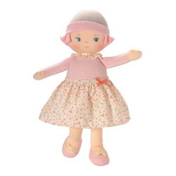 Corolle Barbicorolle Lili Pink Happiness 13 in. Doll - The Corolle Barbicorolle Lili Pink Happiness 13 in. Doll is an award-winning, heart-stealing cutie that will captivate your newborn. This all-cloth baby doll won a Platinum Seal Award from the Oppenheim Toy Portfolio. But it's her huggably plush body, sweetly embroidered face, and so-cute sewn-on outfit that your baby will love. She's squeezably soft and features a sewn-on soft pink polka dot outfit with flowery skirt, Mary Jane shoes, and a cute matching cap.About CorolleCorolle is a premier doll brand designed in the storybook region of France's Loire Valley. Since 1979, Corolle has been creating highly detailed dolls designed to be cherished by children everywhere. Every Corolle doll will inspire magical childhood memories that will last for a lifetime. Corolle dolls look and feel as real as possible. They're created of soft, supple vinyl, have natural-looking hair, and wear on-trend fashions. Corolle dolls are designed durable enough to withstand years of hugs and love. Perfect heirloom treasures! Doll play encourages children to explore different roles from caring for and sharing hopes and dreams to finding an understanding playmate and friend for life. Corolle designs dolls for children of all ages.There is a range of Corolle dolls designed for specific ages. Babi Corolle is a soft-body doll perfect for newborn babies and older. It's machine-washable, feather-light, and made to be loved. Mon Premier Corolle is designed for babies 18 months and older. This line includes a range of baby dolls, clothing, and accessories. The dolls are lightweight and soft. The clothing has Velcro closures so it's easy to put on and take off. Mon Classique Corolle is a classic baby doll designed for toddlers to love and nurture. This line has a complete assortment of larger baby dolls, clothing, and nursery accessories. Some even have hair that can be brushed and styled. Others coo, giggle, drink, and go potty. Mademoiselle Co
