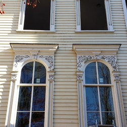 Landmark project, Lincoln Park West - Custom Marvin oversized wood double hung windows to match the original windows