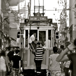 Catching A Ride-Taksim Square Trolley-Istanbul, Fine Art Photography Print, 8X12 - Photo was taken in Taksim Square- Istanbul, Turkey . Summer 2010