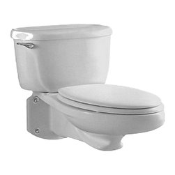 "American Standard - American Standard 2093.100.020 Glenwall Pressure-Assisted Toilet, White - American Standard 2093.100.020 Glenwall Pressure-Assisted Wall-Mounted Toilet, White. This pressure-assisted wall-mounted toilet features an elongated bowl, a fully glazed 2-1/8"" trapway with a 2"" minimum ballpass, a close-coupled flush-o-meter tank, a side-mounted chrome metal trip lever, a sanitary bar on the bowl, and a Speed Connect tank/bowl coupling system."