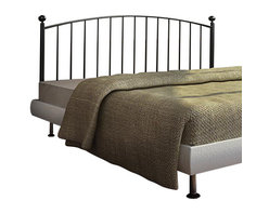 Monarch Specialties - Monarch Specialties 2619Q Queen/ Full Combo Headboard or Footboard in Coffee - With its simple and modern design, the metal coffee colored piece will blend with any modern decor. The simple vertical slat design paired with round posts and topped with classic round finials, this bed is the perfect compliment to your sophisticated style. The headboard has the ability to be used as a queen or full size bed and can also be used as headboard and footboard.