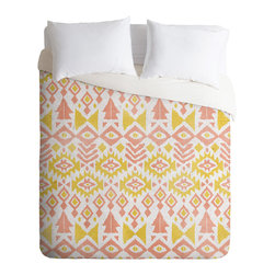 DENY Designs - Loni Harris Tribal Party Duvet Cover - Turn your basic, boring down comforter into the super stylish focal point of your bedroom. Our Luxe Duvet is made from a heavy-weight luxurious woven polyester with a 50% cotton/50% polyester cream bottom. It also includes a hidden zipper with interior corner ties to secure your comforter. it's comfy, fade-resistant, and custom printed for each and every customer.