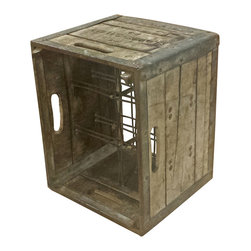 Reclaimed Milk Crate - These milk crates are something some of us are lucky enough to remember seeing on a weekly basis. Throughout the years they have developed great character and make for a great 6 bottle wine rack or just a nice use of storage elsewhere.