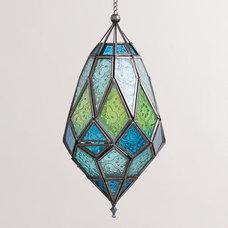 Medium Antigua Pieced Glass Lanterns, Set of 2 | World Market