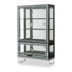 AICO Furniture - Hollywood Swank Starry Night Curio with Glass Doors ...