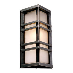 PLC Lighting - PLC 1 Light Outdoor Wall Fixture Trevino Collection 8020/CFL BZ - -Finish: Bronze