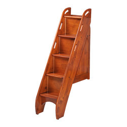 Night And Day Furniture - Bunk Storage Stairs (For Use With Cinnamon Twin/Twin & Full/Full Only)-Cherry - This optional upgrade to our Cinnamon twin/twin or Ginger full/full bunk beds adds storage, safety and style.