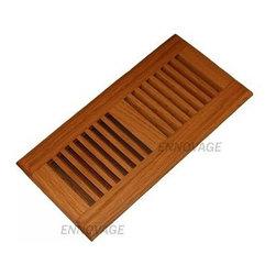 "6""x12"" Red Oak Self Rimming Hardwood Floor Register with Clear Lacquer Finish - 6""x12"" Red Oak Self Rimming Hardwood Floor Register with Clear Lacquer Finish"