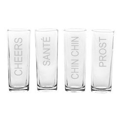 Cheers Shooters, Set of 4 - While they may be shot glasses, these are anything but collegiate. These shooters from Cathy's Concepts will bring cheers (literally) from anyone who uses them.