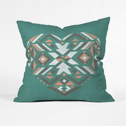Pastel Geometric Love Pillow Cover - One for you, one for me. Snap up a pair of these amourous pillows, and share with your beloved.