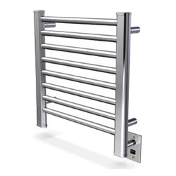 Amba - Ladder 21x21 Electric Heated Towel Warmer, Brushed - • Dual-purpose radiator functions as towel warmer and space heater