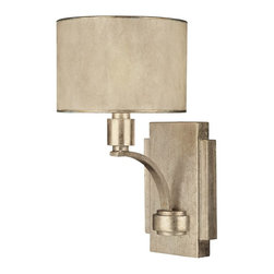 Capital Lighting - Capital Lighting Traditional Wall Sconce X-014-GW6201 - Keep your design simple yet stylish when you decorate with this Capital Lighting Traditional Wall Sconce. It has a simple back plate and a gently curved arm in a stunning, winter gold finish that supports a moonlit mica, stay-straight shade. It's an eye-catching light fixture with a classic style and a timeless appeal.