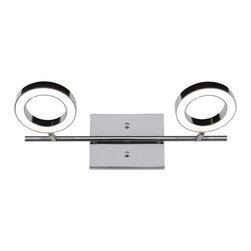 Alternating Current - Alternating Current AC1162 Halo 2-Light Bathroom Vanity Lights - This 2-Light Vanity from the Halo collection by Alternating Current will enhance your home with a perfect mix of form and function. The features include a Polished Chrome finish applied by experts. This item qualifies for free shipping!