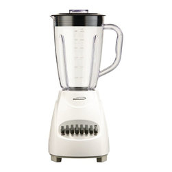 BRENTWOOD - Brentwood JB-220W 12-Speed Blender with Plastic Jar (White) - 350W; 1.5L plastic jar; Nonskid base; White
