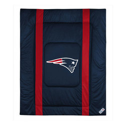 Sports Coverage - NFL New England Patriots Twin Comforter Football Bed - Features: