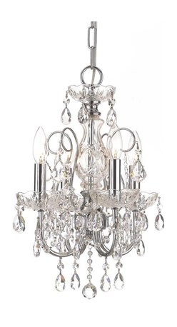 """3224-CH-CL-MWP Solid Brass Crystal Chandelier Accented with Hand Cut Crystal by - Get 10% discount on your first order. Coupon code: """"houzz"""". Order today."""
