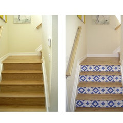 mediterranean staircase by Casart Coverings