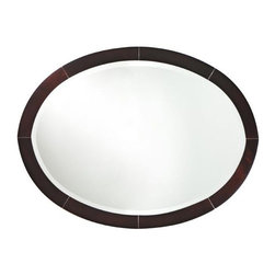 Home Decorators Collection - Port Oval Wall Mirror - The Port Oval Wall Mirror features a smooth rose-brown finish with clean lines and sleek styling that matches perfectly with the rest of the Port Collection. Crafted of durable materials and beveled glass. Available in a rose-brown finish.