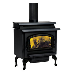 Vermont Castings - Vermont Castings SSW30FTAPB Savannah 30 w/ Flat Top Design, Black Door, Designer - The Vermont Castings SSW30FTAPB Savannah 30 Includes Flat Top Design, Black Door, Designer is part of the Savannah Series, and comes in a Black finish. This wood burning stove features a size that fits into any room, a traditional flat-top design, an air wash manifold, a panoramic viewing area, and up to a 2,200 square foot heating area.