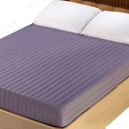 Lasin Bedding - Lasin Bedding King 100% Cotton 300TC Fitted Sheet - Stripe, Purple - Made of 100% high quality cotton, our 300 thread count fitted sheets are soft and comfortable, just the way you need for a good night sleep. Lasin Bedding Inc., formerly The Best Bedding Inc., is passionate to offer the highest quality elegant luxurious silk at the most reasonable price for all customers. The Best Bedding Inc. originally started in 2005, tailoring to the Canadian market; our first headquarter was in Richmond, B.C Canada.