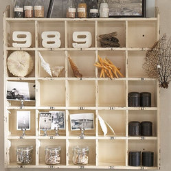 Cubby Organizer - Weathered White