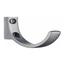 Smedbo - Smedbo 1 3/4 Inch Brushed Chrome Design Hook - Smedbo 1 3/4 Inch Brushed Chrome Design Hook