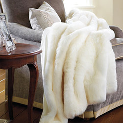 Luxury Faux Fur Throw - Fur was big in Old Hollywood, and a faux mink throw would be wonderful to wrap up in on a chilly night. Draped at the foot of the bed, it would add a layer of luxury too.