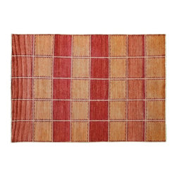 Area Rug, 6'X8' Hand Knotted 100% Wool Modern Gabbeh Natural Dyes Rug SH9570 - Our Modern & Contemporary Rug Collections are directly imported out of India & China.  The designs range from, solid, striped, geometric, modern, and abstract.  The color schemes range from very soft to very vibrant.