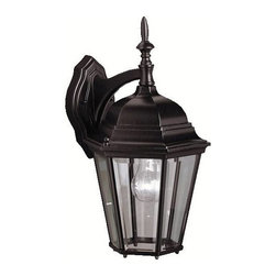 Kichler - Kichler Madison Outdoor Wall Mount Light Fixture in Black (Painted) - Shown in picture: Outdoor Wall 1Lt in Black (Painted)