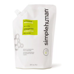 simplehuman - Antibacterial (aloe + Cucumber) Liquid Hand Soap Refill Pouch, 34 Fl. Oz. - Economical and ecofriendly, this 34-ounce resealable pouch is a better way to refill your soap dispensers. Antibacterial soap kills germs but is gentle on your hands, and is enhanced with the subtle fragrance of aloe and cucumber for a freshness that's more than skin deep.