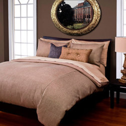 Siscovers - Harbour Sand Tan Six Piece Queen Duvet Set - - Set Includes: Duvet - 94x98, Two Queen Shams - 30x20, One Decorative Pillow - 16x16, One Decorative Pillow - 26x14  - Duvet Material: 100% Polyester  - Sham Material: 100% Polyester  - Workmanship and materials for the life of the product. SIScovers cannot be responsible for normal fabric wear, sun damage, or damage caused by misuse  - Reversible Duvet and Shams  - Care Instructions: Machine Wash  - Made in USA of Fabric made in China Siscovers - HASA-XDUQN6