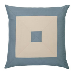 """Mystic Valley - Mystic Valley Traders Cottonwood - 22"""" Pillow - The Cottonwood 22"""" pillow is fashioned from the Colony fabric on each side, mitred on front and railroaded on reverse, and finished with a clean edge; 22""""x22""""."""