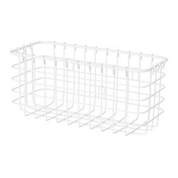 BLANKEN Wire Basket - I love a simple wire basket. Hang it on the inside of a cabinet door or inside a closet — either way it's the perfect small basket for your catch-all needs.