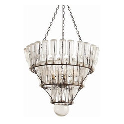 Arteriors Stedman Iron Glass 5L Chandelier