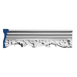 """Inviting Home - Diannah Decorative Molding - Diannah decorative molding 5-1/2""""H x 1-1/2""""P x 8'00""""L repeat - 21"""" molding sold in 8 foot length 4 piece minimum order required chair-rail molding specifications: - outstanding quality chair-rail molding made from high density polyurethane: environmentally friendly material is hypoallergenic and fully recyclable no CFC no PVC no formaldehyde; - front surface of this molding has extra durable and smooth surface; - chair-rail molding is pre-primed with water-based white paint; - lightweight durable and easy to install using common woodworking tools; - metal dies were used for consistent quality and perfect part to part match for hassle free installation; - this chair-rail molding has sharp deep and highly defined design; - matching flexible molding available; - chair-rail molding can be finished with any quality paints; Polyurethane is a high density material--it��s extremely lightweight and easy to install (and comes primed and ready to paint). It is a green material meaning its CFC and formaldehyde free. It is also moisture resistant--so it won��t shrink flex or mold. What��s also great about Polyurethane is that it��s completely customizable and can be treated as wood (you can saw it nail it screw it and sand it). In addition our polyurethane material comes primed and ready to paint. There is a four piece minimum requirement for this molding purchase."""