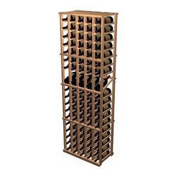 Wine Cellar Innovations - Designer Wine Racks - 5 Column Individual W/ Display - The Individual Bottle with Display Row combines all the features of the standard Individual Bottle wooden wine rack with the added benefit of display rows. The 15 degree angle of the wine display row keeps the cork moist while allowing you to easily view the label. The Individual Bottle with Display Row is 5 columns wide x 19 rows high with 5 bottles of display. Product requires assembly. Please note: molding packages are available separately.