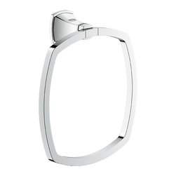 "Grohe - Grohe 40630000 Chrome Grandera Series Towel Ring - Grohe Grandera 8"" Towel ring 40630 000. This Grandera Series towel ring measures 8"" in diameter, and comes with all the necessary mounting hardware and instructions. This model comes in a bright, StarLight Chrome finish."