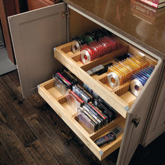 contemporary media storage by MasterBrand Cabinets, Inc.
