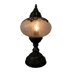 Stunning Desk Lamp - Sultans Magic Ball - Authentic Desk Lamp , Moroccan Style Lamp , Night Lamp, Exotic Lamp