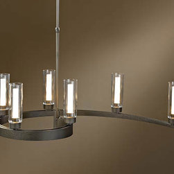 Eddy Tube Shade Adjustable Pendant by Hubbardton Forge -