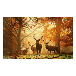 Picture-Tiles, LLC - Autumn Photo Wall Back Splash Tile Mural  24 x 40 - * Autumn Photo Wall Back Splash Tile Mural 1031