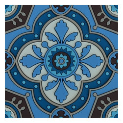 Sejjadeh Azur Coaster, Set of 6 - We love this classic design inspired by traditional arabesque patterns. The Sejjadeh pattern is inspired by Arab terrazo that covered the floors of 1930s and 1940s Mediterranean residences. Juxtaposed, they created