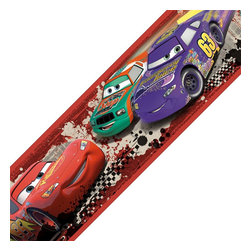 York Wallcoverings - Disney Cars Piston Cup Racing Self-Stick Wall Border Roll - Features: