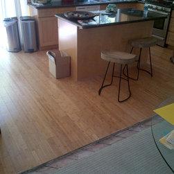 Residential remodel - Los Angeles - Original carpet & bamboo floors
