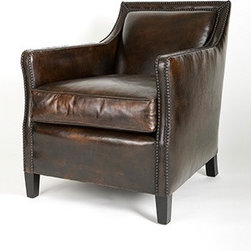 Boston Chair - The classic 'Boston' chair, ultra comfortable distressed leather for reading the paper by the fire the den.