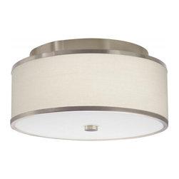 Hart Lighting - Corona 17 White Waffle Round Flush Mount - Corona 17 White Waffle Round Flush Mount with 1150 shade and 1004/1004INC ceiling pan.
