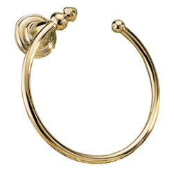 Delta - Victorian Towel Ring in Polished Brass - Delta 75046-PB Victorian Towel Ring in Polished Brass.