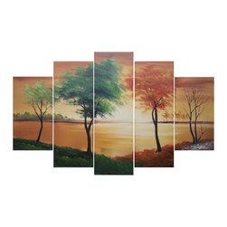 "Fabuart - ""Seasons Come and Go"" Canvas Oil Painting - 60 x 32in - This beautiful Art is 100% hand-painted on canvas by one of our professional artists. Our experienced artists start with a blank canvas and paint each and every brushstroke by hand."