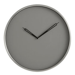 Harris Wall Clock - Incorporate a circle into your gallery wall with a functional piece. I like this bold gray Harris wall clock.